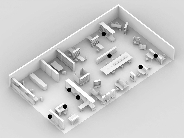 Stauraum-Schreibtisch